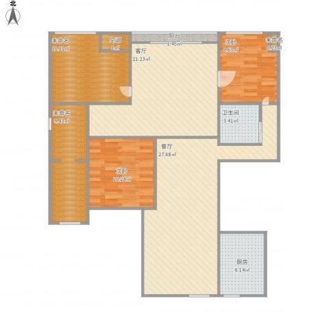 中大未来城2室2厅1卫1厨136.00㎡户型图