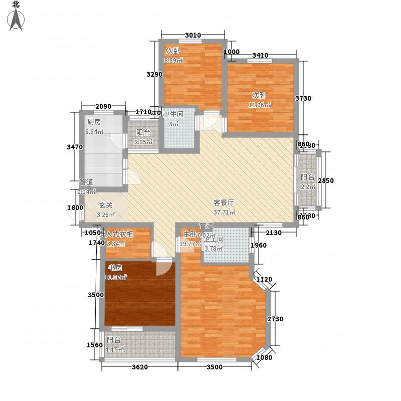阳光水岸15户型4室2厅2卫1厨