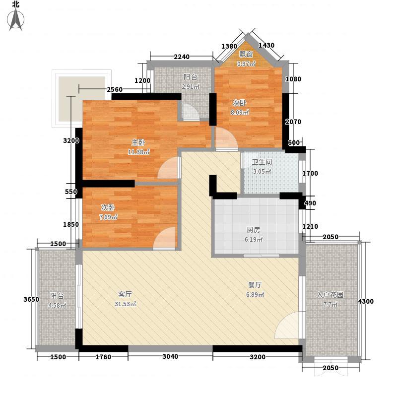 百合御都C7F01户型3室2厅2卫