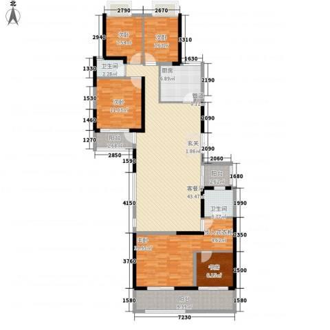 万科金御华府5室1厅2卫1厨177.00㎡户型图