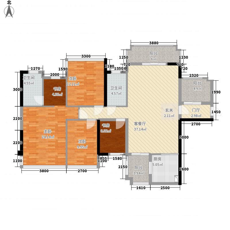 盛天公馆|88街区127.00㎡2#楼06户型3室1厅1卫1厨