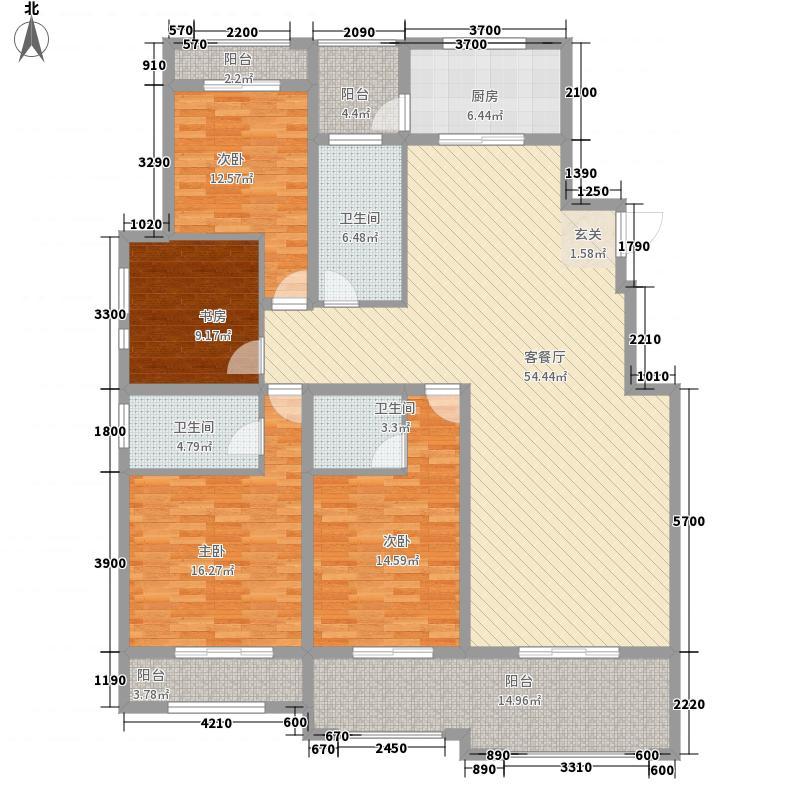万和・九龙湖172.00㎡多层户型4室2厅3卫