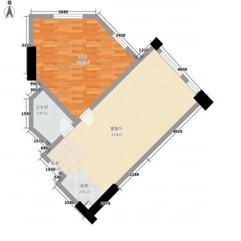 利豪名郡1室1厅1卫0厨85.00㎡户型图