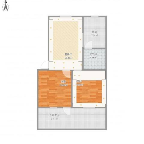 包衙前2室1厅1卫1厨95.00㎡户型图