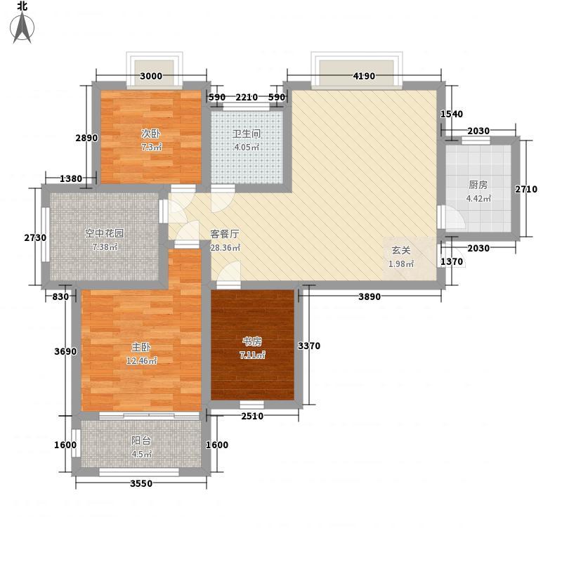东城鑫地85.20㎡东城鑫地A-3户型2室2厅1卫1厨85.20㎡户型2室2厅1卫1厨