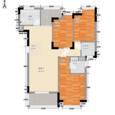 怡景丽苑3室1厅2卫1厨113.00㎡户型图