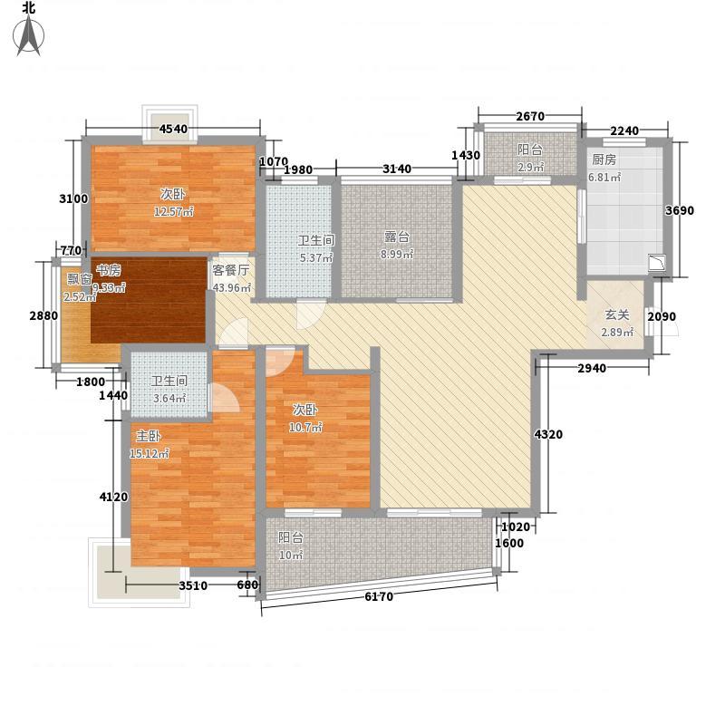 天隽峰185.30㎡12#A户型4室2厅2卫1厨