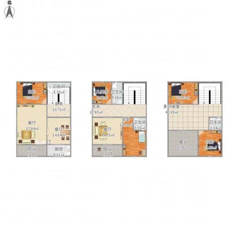 凤舞家园5室3厅4卫1厨359.00㎡户型图