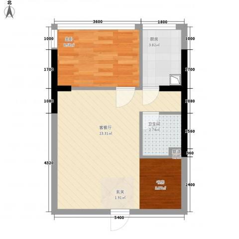 金房玲珑湾1室1厅1卫1厨55.00㎡户型图