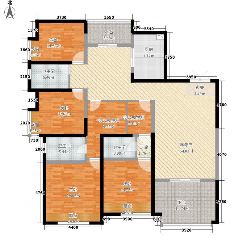 领地凯旋公馆J21138-4-2-3户型