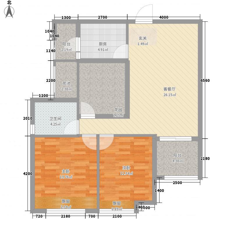 万锦华府6.20㎡6号楼户型3室2厅1卫1厨