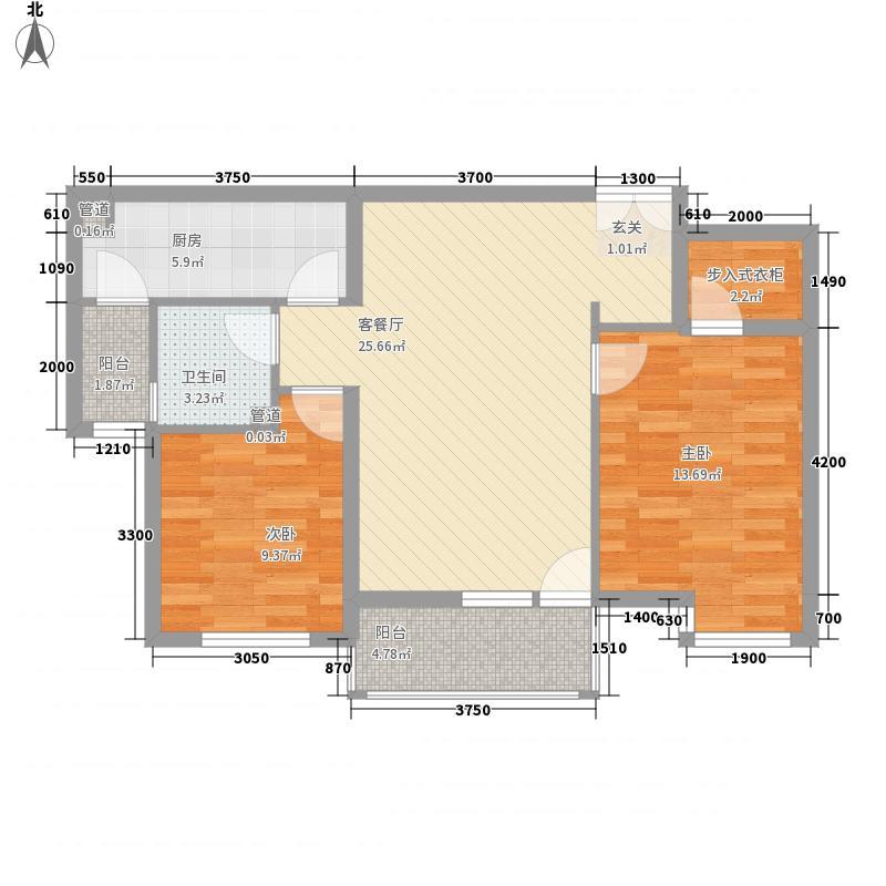 39所1区65.00㎡户型2室