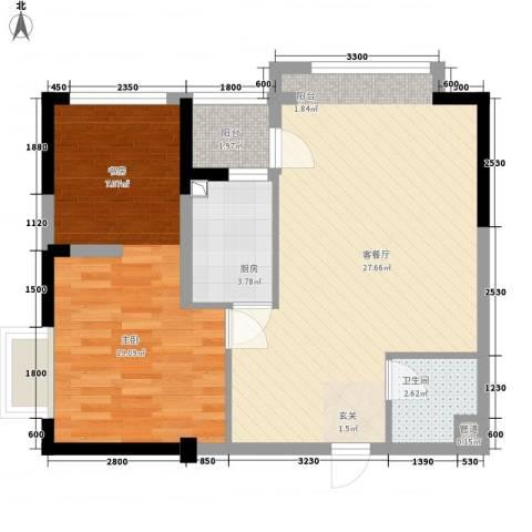 金房玲珑湾1室1厅1卫1厨78.00㎡户型图