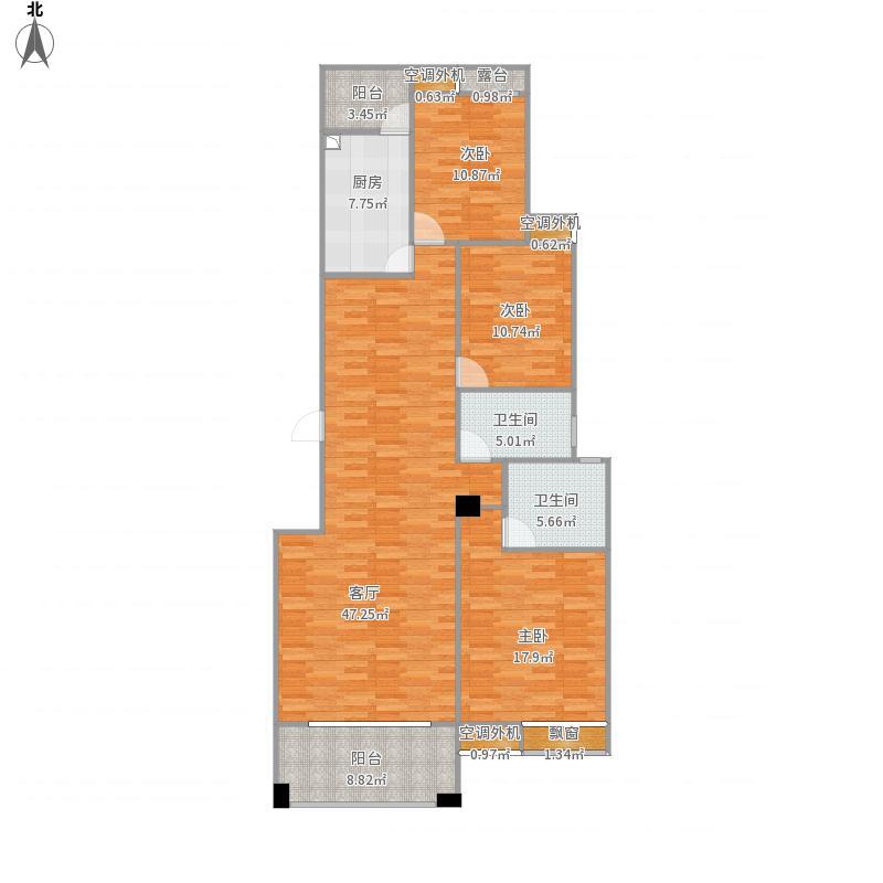 长沙_联诚国际城C12栋602结构分布图
