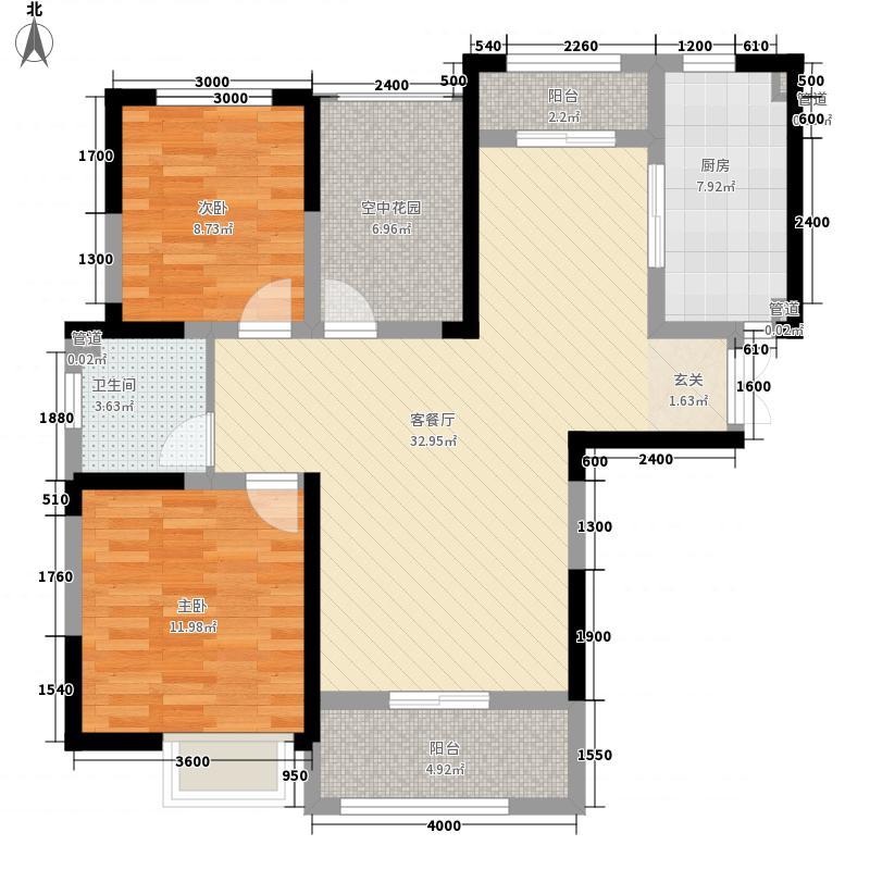 滨湖和园户型2室