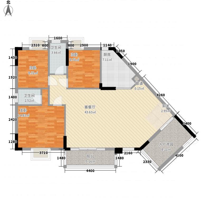 金茂・家时代111.20㎡C户型3室2厅2卫