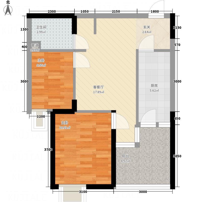 状元府邸公寓66.50㎡户型1室1厅1卫1厨