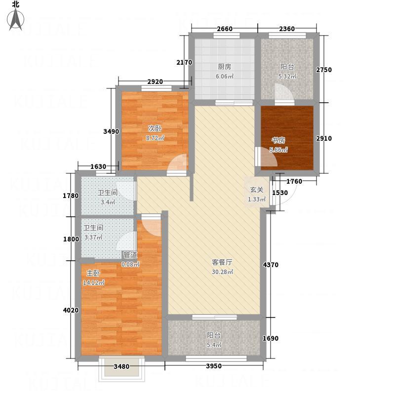 启迪国际城・仕家11.52㎡3户型3室2厅2卫1厨