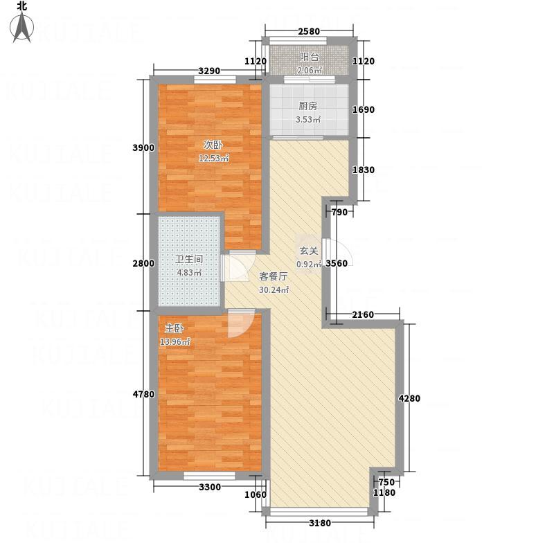 浅草绿阁三期郦水枫霖户型2室