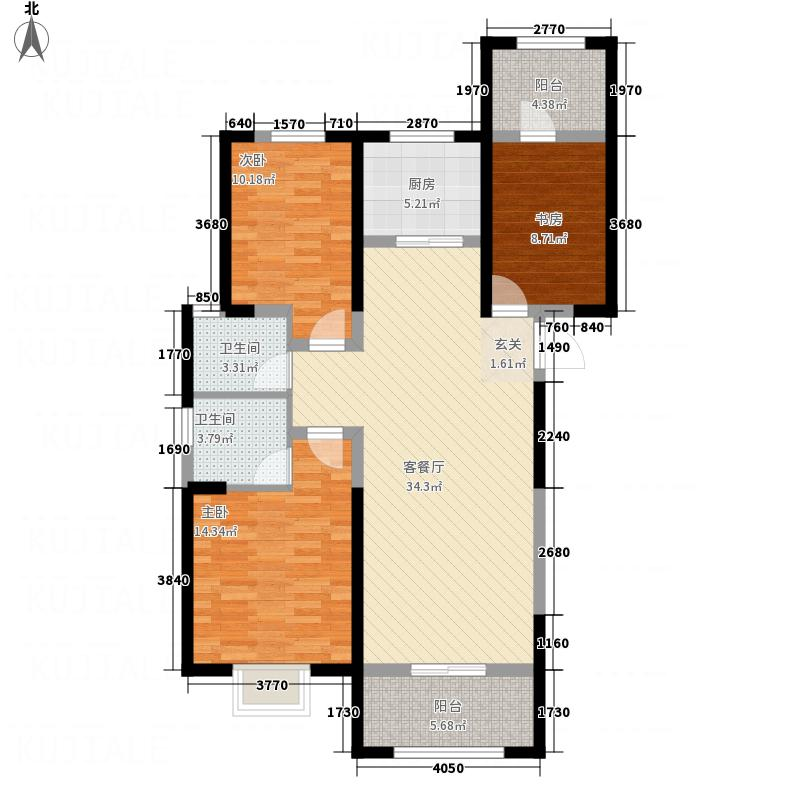启迪国际城・仕家12.80㎡1户型3室2厅2卫1厨