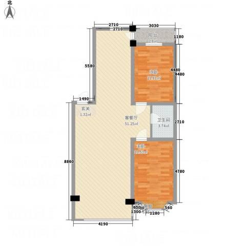 浅草绿阁三期2室1厅1卫0厨116.00㎡户型图