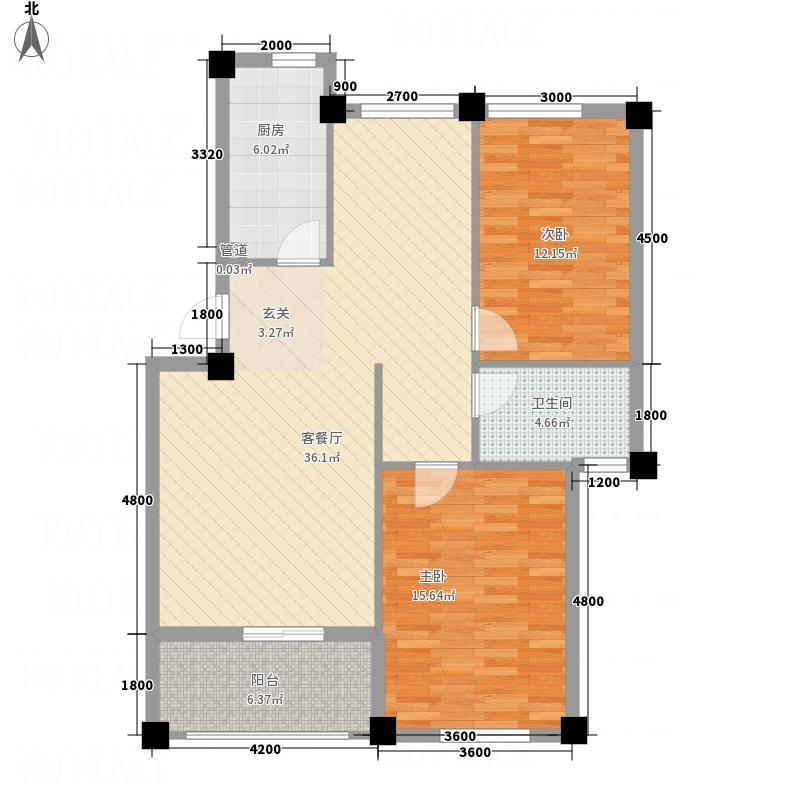 凤凰1.60㎡小区5号楼J户型3室2厅1卫1厨