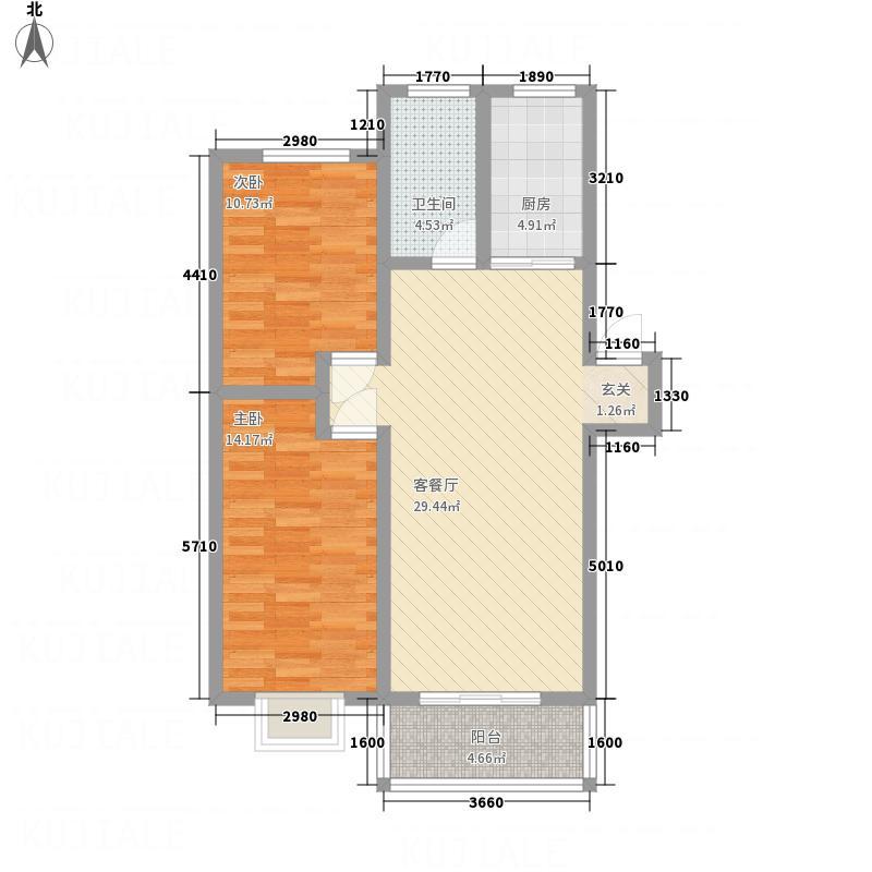 污水净化公司家属院84.00㎡户型2室