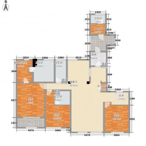 华润外滩九里3室1厅4卫1厨244.00㎡户型图
