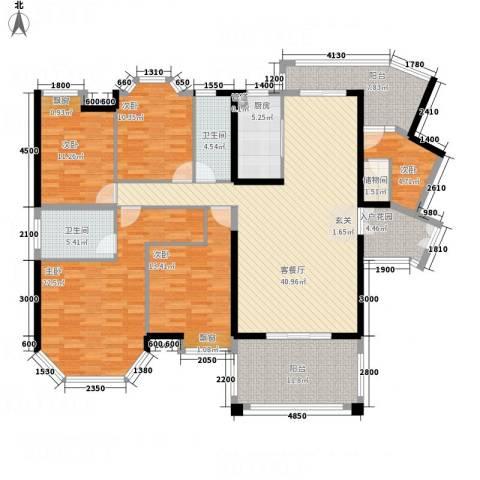 荷兰水乡三期5室1厅2卫1厨144.11㎡户型图