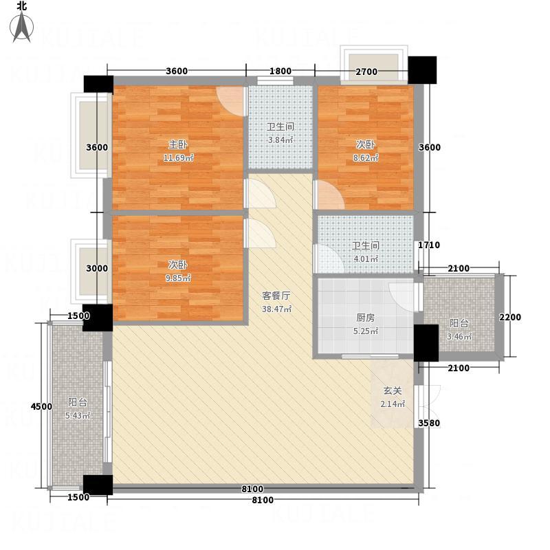 黎筑金色城邦1114.22㎡A1-A户型3室2厅2卫