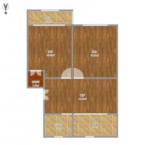 林梅新村2室1厅1卫1厨91.00㎡户型图