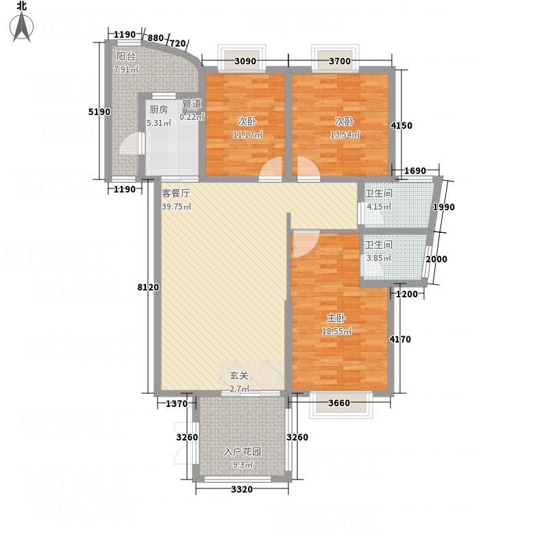 海豚湾144.00㎡K户型3室2厅2卫1厨