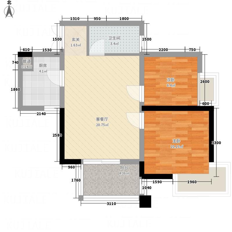湘府9号67.00㎡户型2室