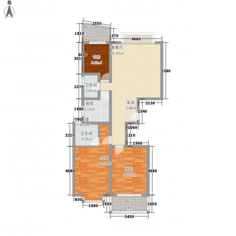 富裕世家128.00㎡富裕世家3室户型3室