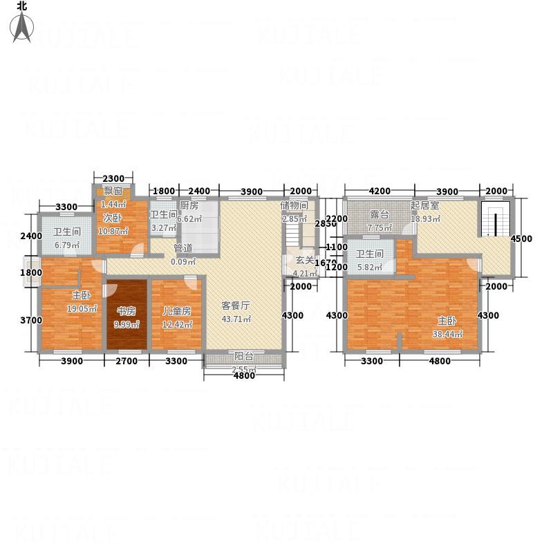 国宝华府263.55㎡二期高层C复式户型6室3厅3卫1厨
