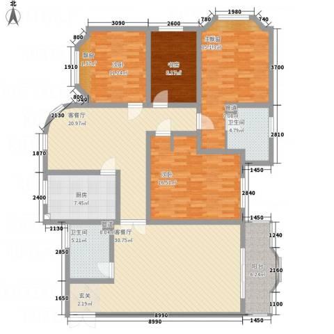 西安锦园4室2厅2卫1厨184.00㎡户型图