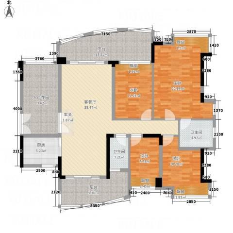 富逸上苑4室1厅2卫1厨163.00㎡户型图