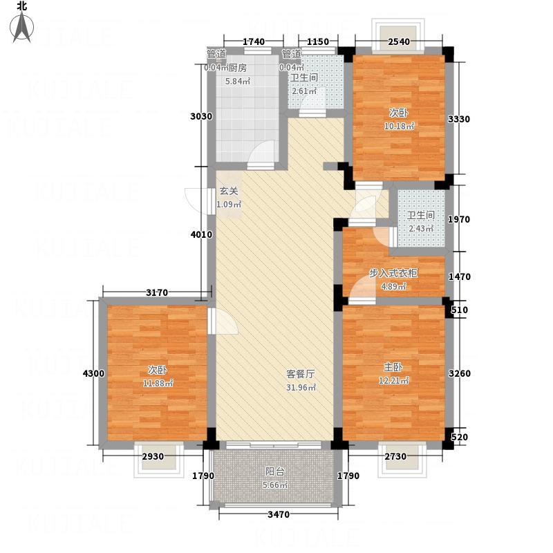 御溪荣境116.50㎡E4-2户型3室1厅1卫1厨