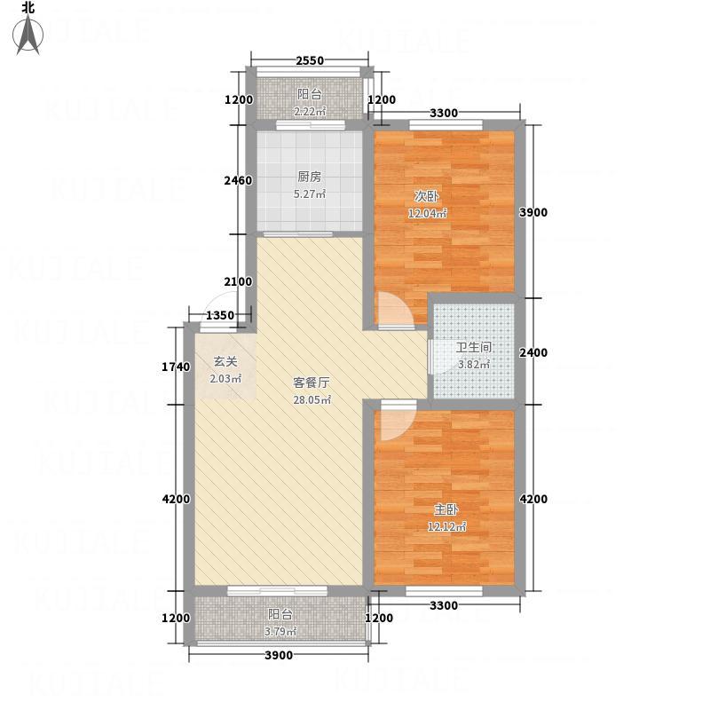 龙逸馨都8、9#楼户型2室2厅1卫