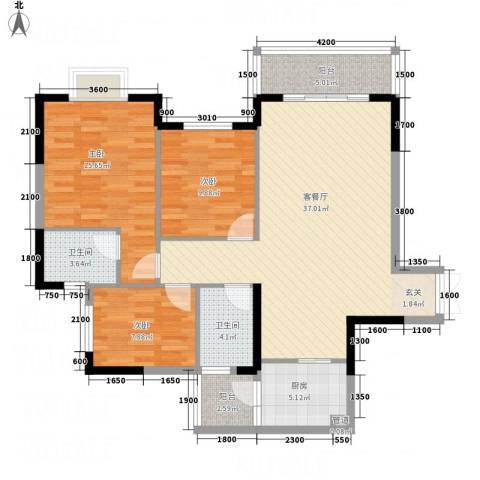 怡景国际3室1厅2卫1厨612.00㎡户型图