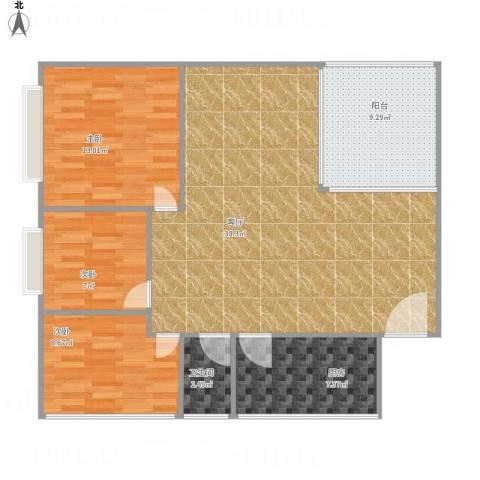 风度国际名苑6#9033室1厅1卫1厨115.00㎡户型图
