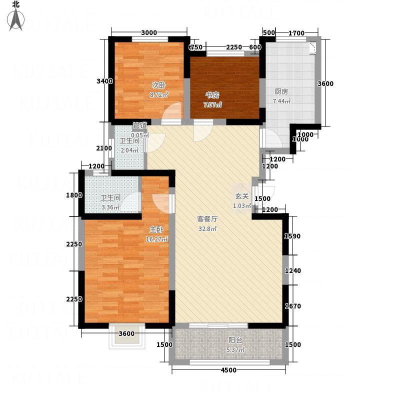 瑞闽・第一城116.00㎡A户型3室2厅2卫1厨