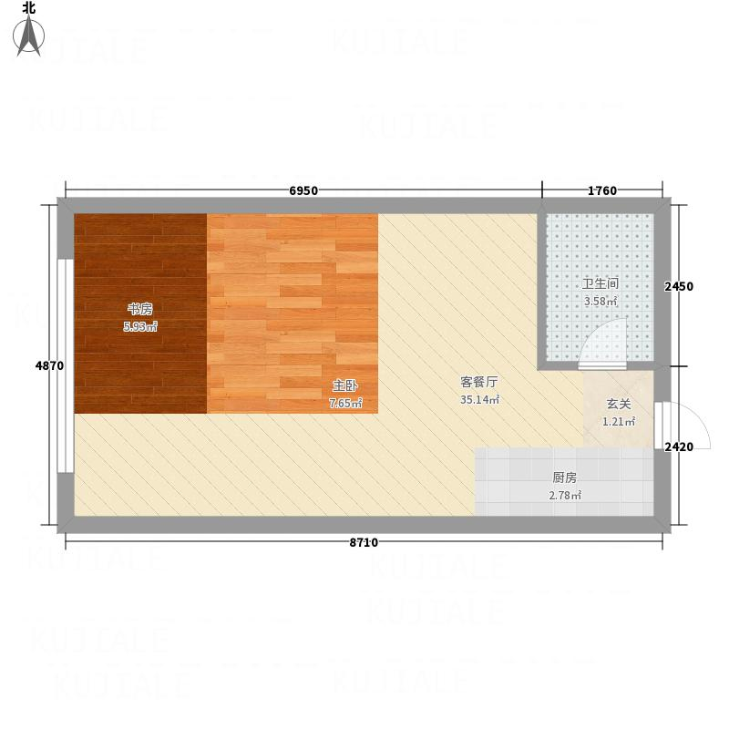 百花园53.00㎡户型
