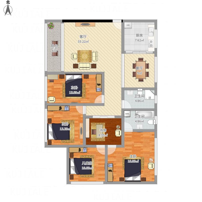 148平米4房2厅2卫