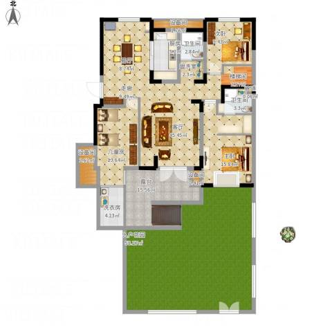 宜禾红橡公园3室1厅2卫1厨251.00㎡户型图