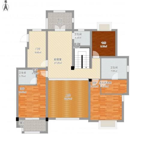 保利湖畔林语3室0厅3卫0厨185.00㎡户型图