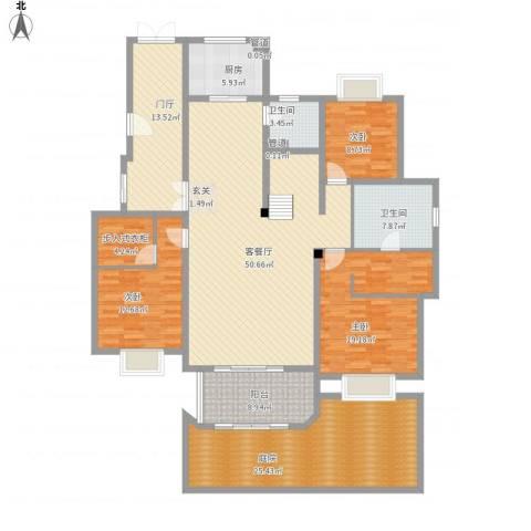 保利湖畔林语3室1厅2卫1厨228.00㎡户型图