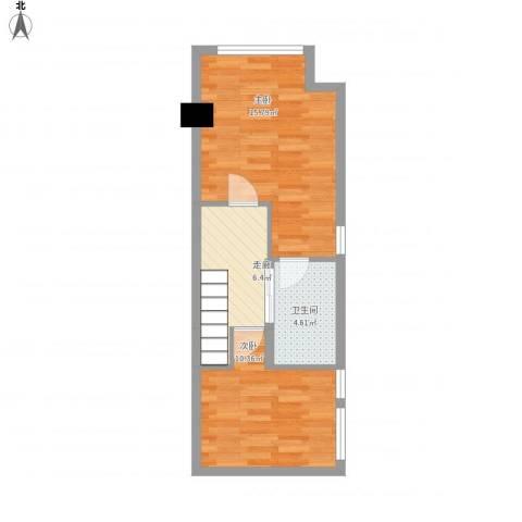 坦洲皇爵盈富国际2室0厅1卫0厨54.00㎡户型图