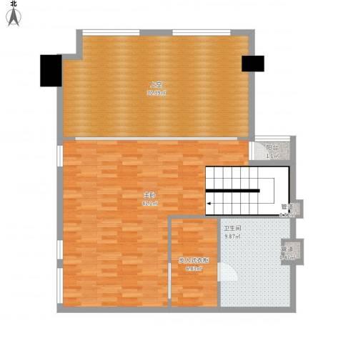 坦洲皇爵盈富国际1室0厅1卫0厨124.00㎡户型图