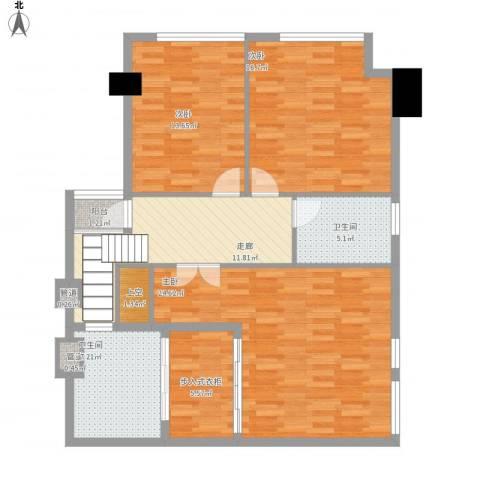 坦洲皇爵盈富国际3室0厅2卫0厨124.00㎡户型图
